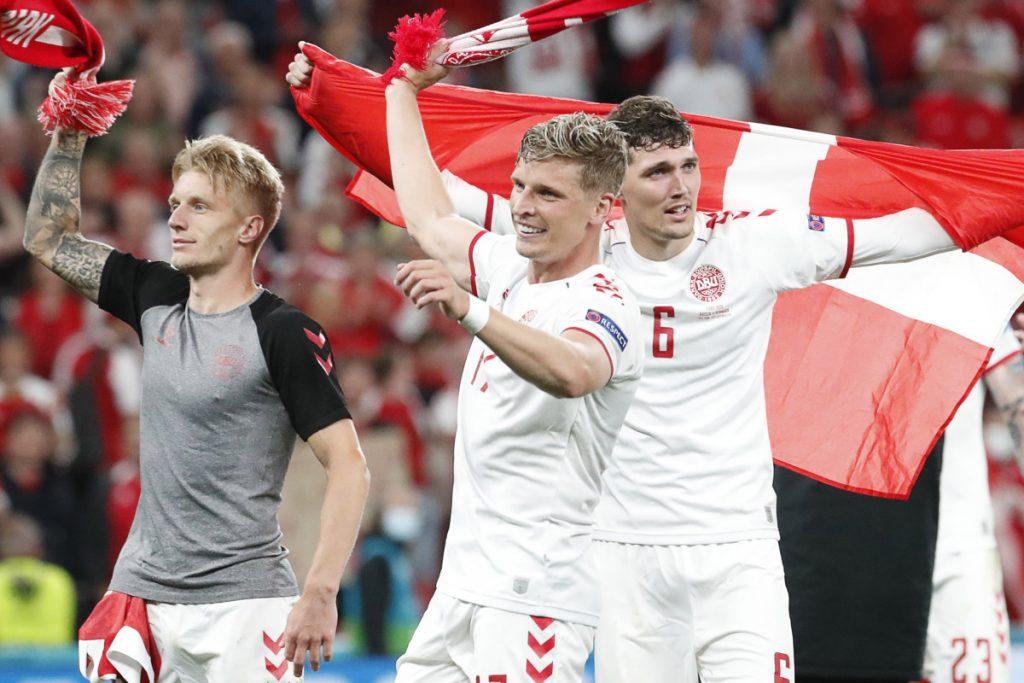Denmark advances after Christian Eriksen collapse