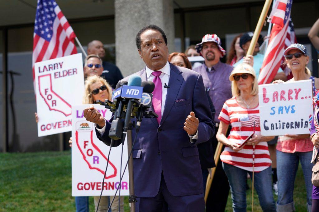 Larry Elder leads in crowded California gov recall race