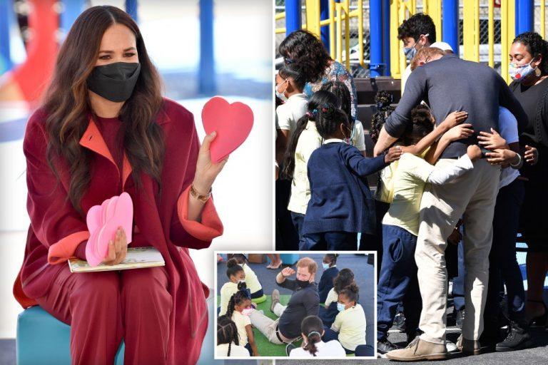 Meghan Markle, Prince Harry visit Harlem students on NYC trip