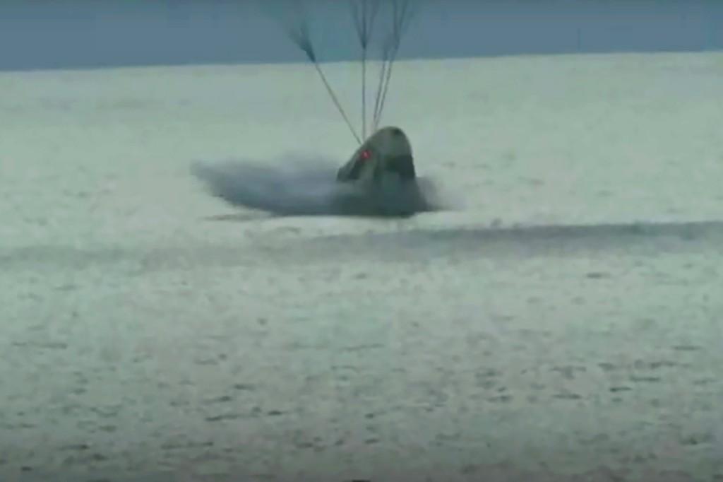 SpaceX's civilian crew makes water landing off Florida coast